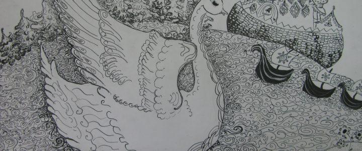 Выставку в Музее-заповеднике «Абрамцево» украсил рисунок учащейся МБУ ДО ШИ